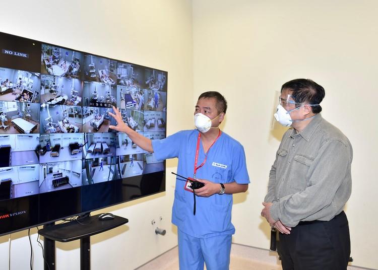 Thủ tướng Phạm Minh Chính kiểm tra, chỉ đạo, động viên công tác chống dịch tại Bình Dương ảnh 2