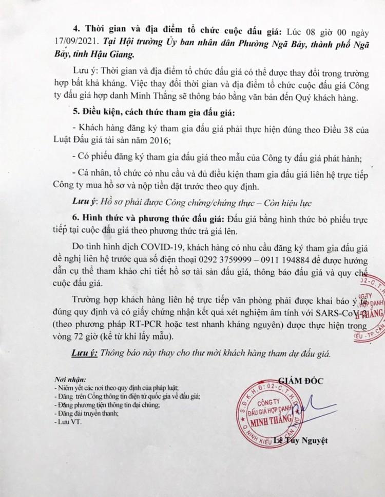 Ngày 17/9/2021, đấu giá quyền sử dụng 11 lô đất tại thành phố Ngã Bảy, tỉnh Hậu Giang ảnh 4