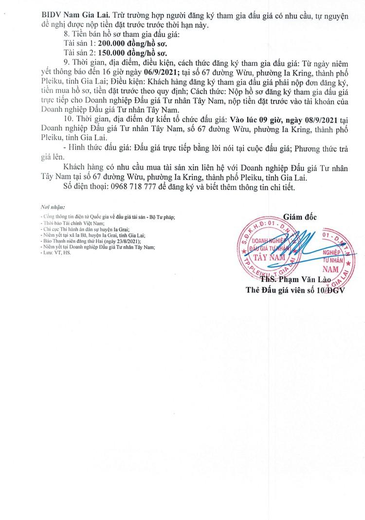 Ngày 8/9/2021, đấu giá quyền sử dụng 3.671,8 m2 và 2.795,4 m2 đất tại huyện Ia Grai, tỉnh Gia Lai ảnh 3