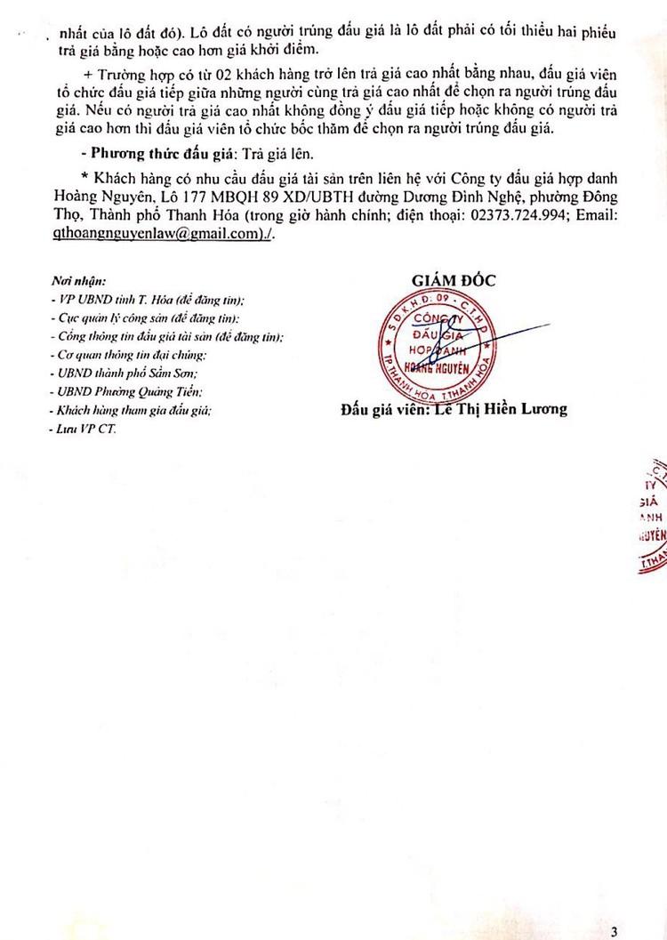 Ngày 13/9/2021, đấu giá quyền sử dụng 47 lô đất tại thành phố Sầm Sơn, tỉnh Thanh Hóa ảnh 4