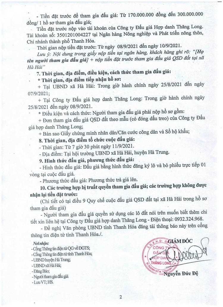 Ngày 11/9/2021, đấu giá quyền sử dụng 13 lô đất tại huyện Hà Trung, tỉnh Thanh Hóa ảnh 3