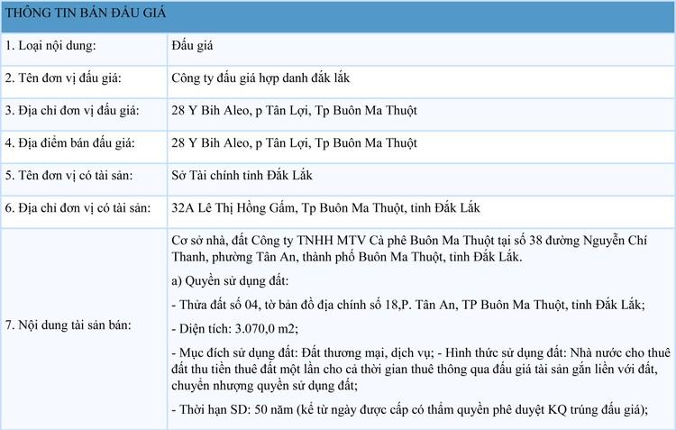 Ngày 17/9/2021, đấu giá cơ sở nhà, đất tại thành phố Buôn Ma Thuột, tỉnh Đắk Lắk ảnh 1