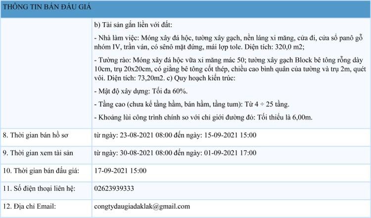 Ngày 17/9/2021, đấu giá cơ sở nhà, đất tại thành phố Buôn Ma Thuột, tỉnh Đắk Lắk ảnh 2