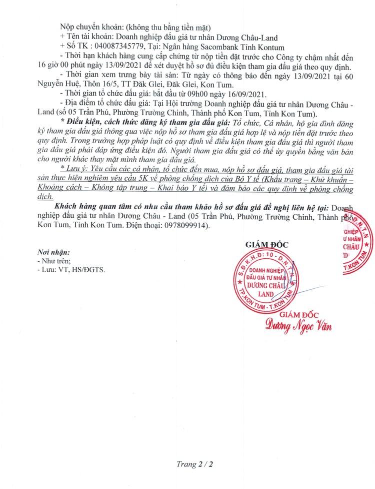Ngày 16/9/2021, đấu giá quyền sử dụng 125 m2 đất tại huyện Đăk Glei, tỉnh Kon Tum ảnh 3
