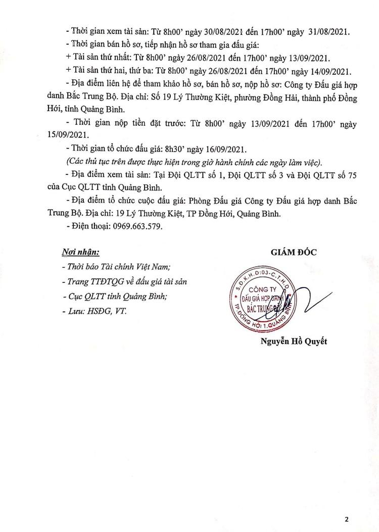Ngày 16/9/2021, đấu giá lô hàng hóa tịch thu tại tỉnh Quảng Bình ảnh 3