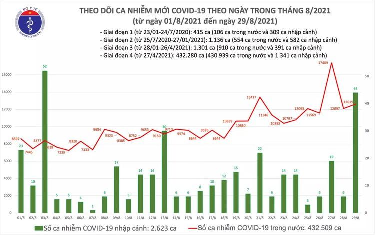 Bản tin dịch COVID-19 tối 29/8: Thêm 12.663 ca mắc mới, Bình Dương nhiều nhất với 5.414 ca ảnh 1