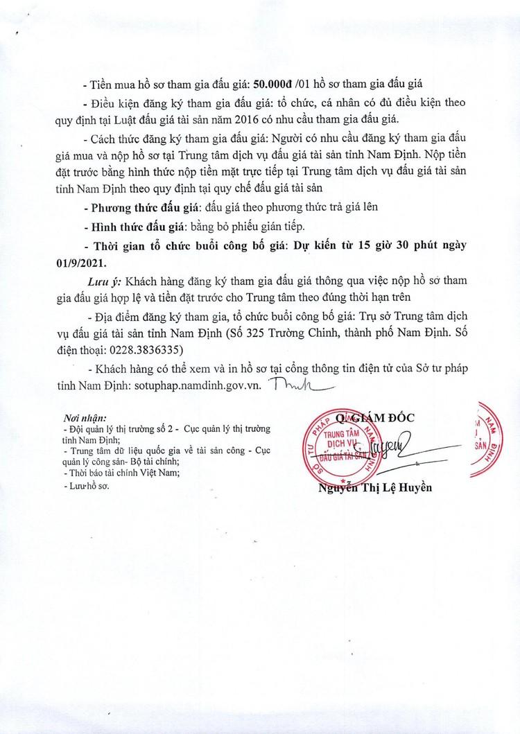 Ngày 1/9/2021, đấu giá lô 35 chiếc quần bò nam tại tỉnh Nam Định ảnh 3