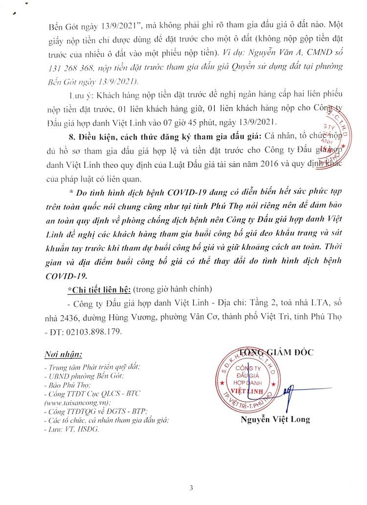 Ngày 13/9/2021, đấu giá quyền sử dụng 18 lô đất ở tại thành phố Việt Trì, tỉnh Phú Thọ ảnh 4
