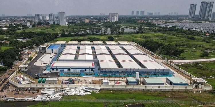 Bệnh viện dã chiến hiện đại nhất Hà Nội trước ngày hoạt động ảnh 16