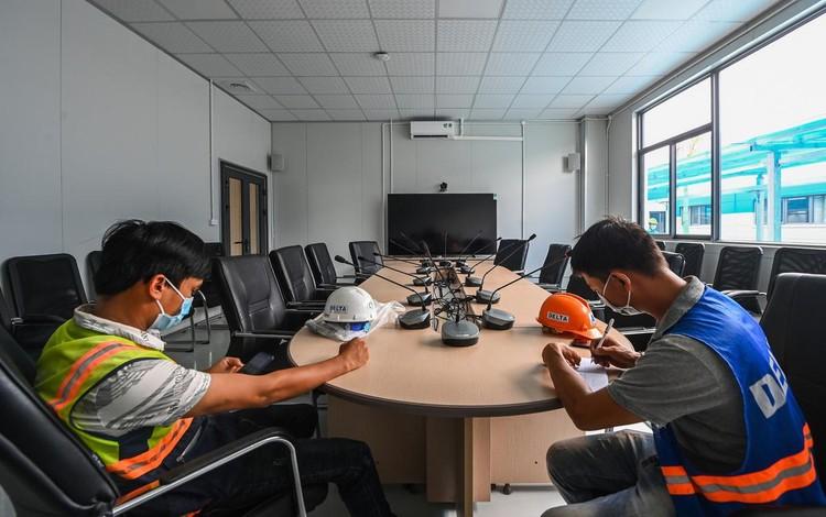 Bệnh viện dã chiến hiện đại nhất Hà Nội trước ngày hoạt động ảnh 2