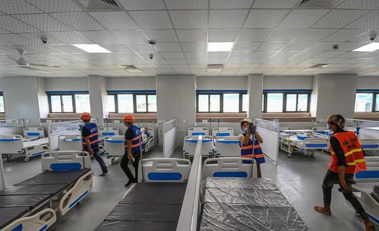 Bệnh viện dã chiến hiện đại nhất Hà Nội trước ngày hoạt động ảnh 3
