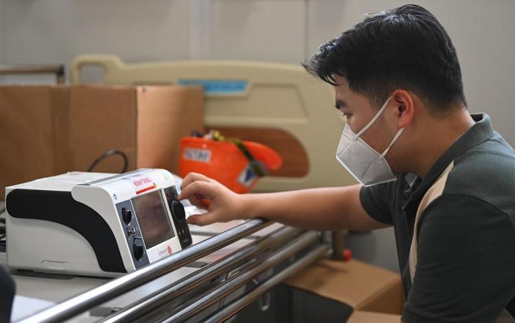 Bệnh viện dã chiến hiện đại nhất Hà Nội trước ngày hoạt động ảnh 5