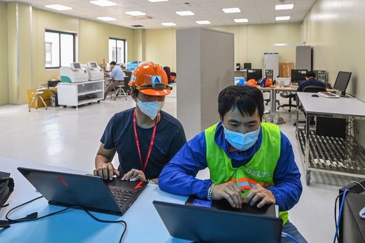 Bệnh viện dã chiến hiện đại nhất Hà Nội trước ngày hoạt động ảnh 6