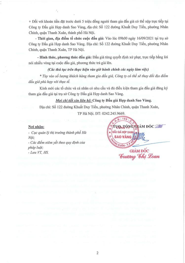 Ngày 16/9/2021, đấu giá hàng hóa các loại tại Hà Nội ảnh 3