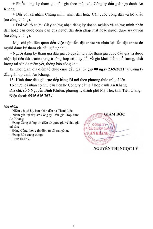 Ngày 23/9/2021, đấu giá quyền thu tiền dịch vụ sử dụng diện tích bán hàng tại tỉnh Tiền Giang ảnh 5