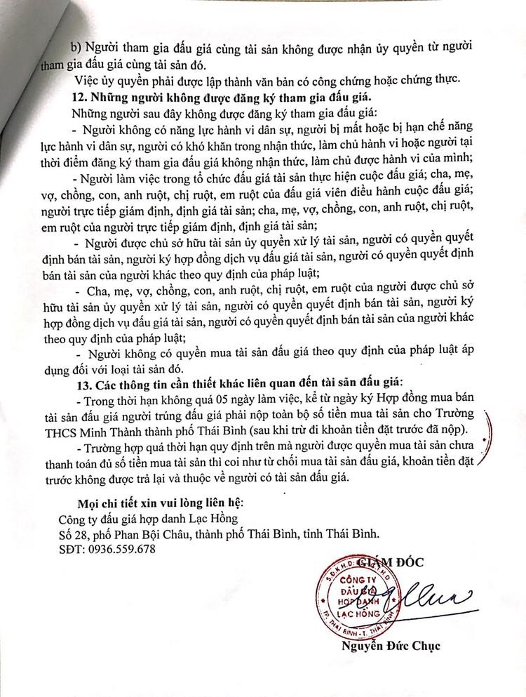 Ngày 20/9/2021, đấu giá vật liệu, vật tư thu hồi công trình tại tỉnh Thái Bình ảnh 5