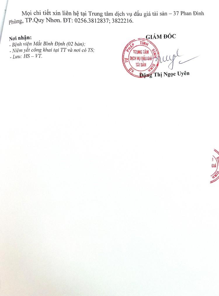 Ngày 11/9/2021, đấu giá 2 máy phẫu thuật tại tỉnh Bình Định ảnh 3