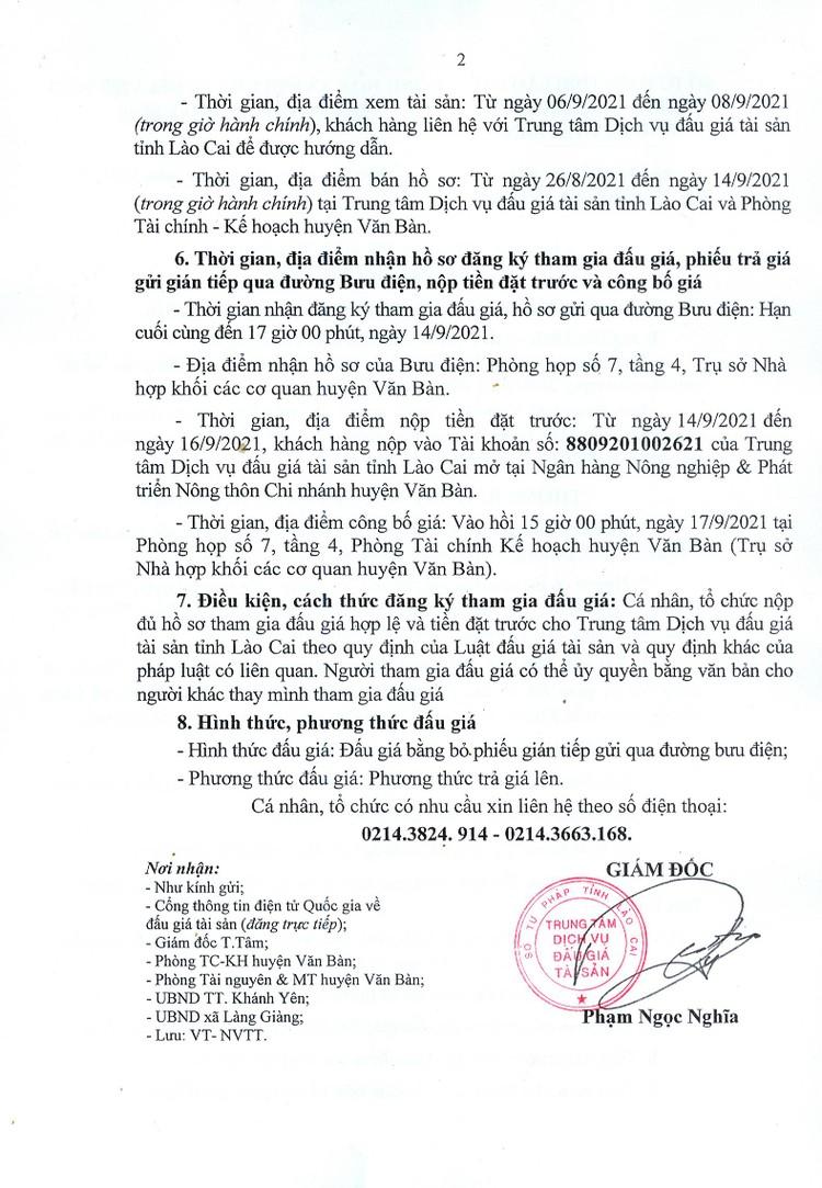 Ngày 17/9/2021, đấu giá quyền sử dụng 22 thửa đất tại huyện Văn Bàn, tỉnh Lào Cai ảnh 4