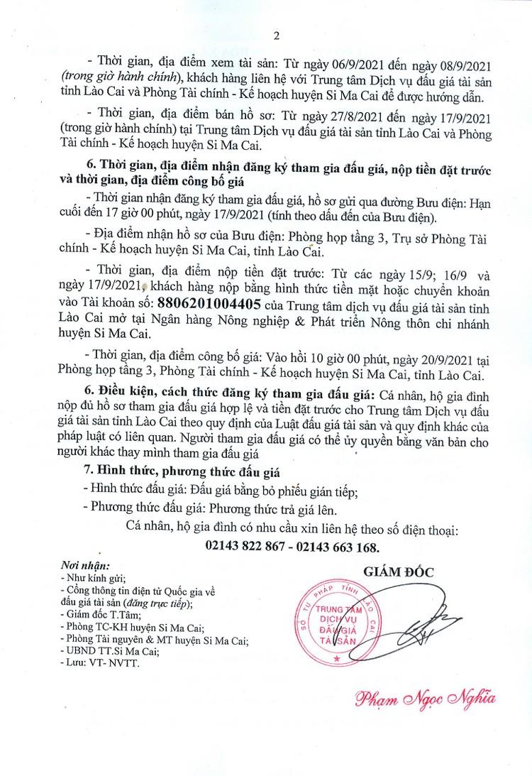 Ngày 20/9/2021, đấu giá quyền sử dụng 2 thửa đất tại huyện Si Ma Cai, tỉnh Lào Cai ảnh 3