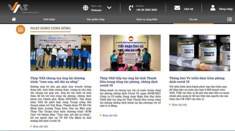 VAS Group ra mắt giao diện website mới ảnh 2