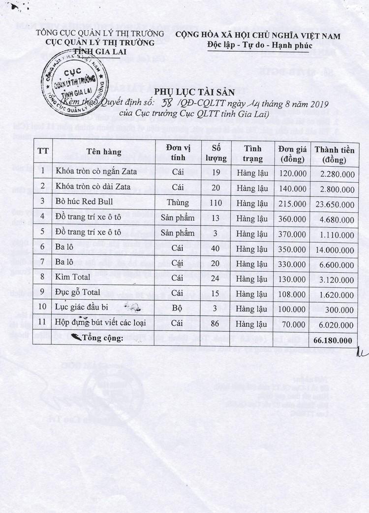 Ngày 13/9/2021, đấu giá tang vật vi phạm hành chính tại tỉnh Gia Lai ảnh 3