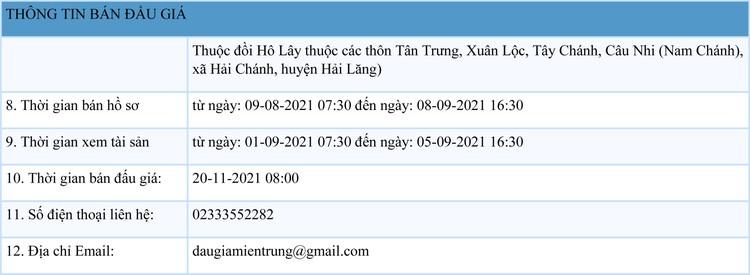 Ngày 20/11/2021, đấu giá quyền khai thác tại 9 điểm mỏ khoáng sản tại huyện Hải Lăng, Cam Lộ, Đakrông, Triệu Phong và TX Quảng Trị, tỉnh Quảng Trị ảnh 2