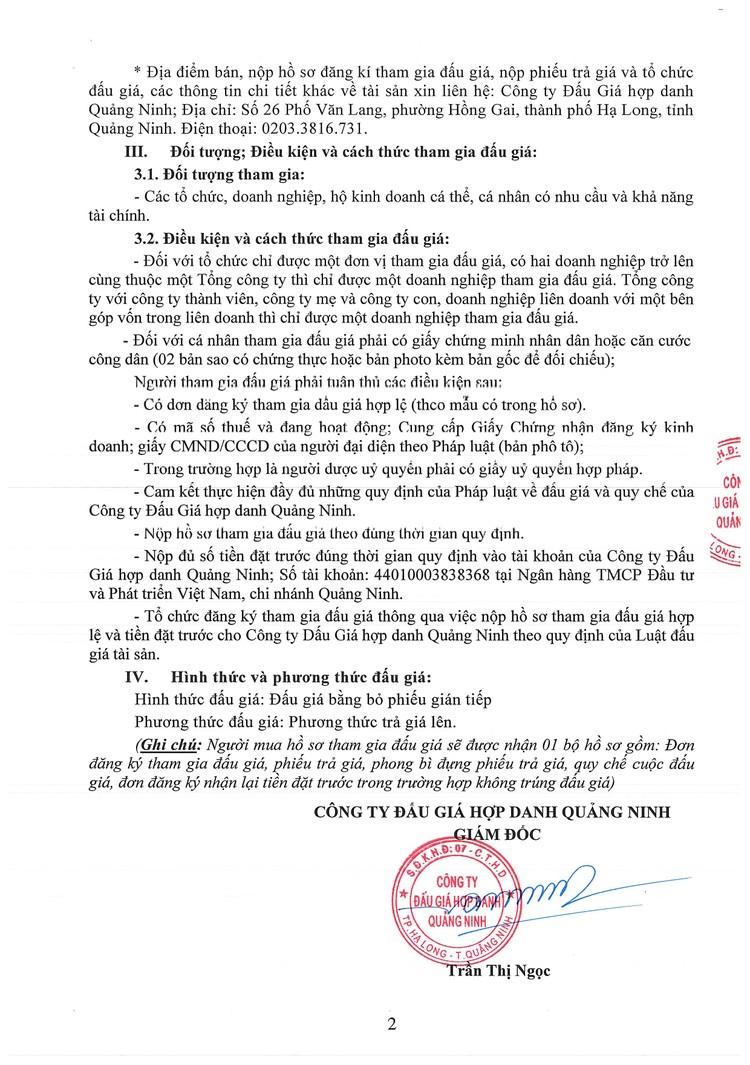 Ngày 16/9/2021, đấu giá 2 tàu cứu nạn tại tỉnh Quảng Ninh ảnh 3