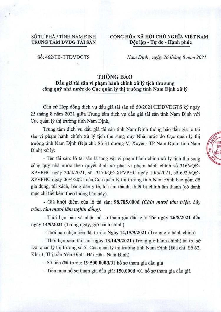 Ngày 17/9/2021, đấu giá hàng hóa tang vật vi phạm hành chính tại tỉnh Nam Định ảnh 2