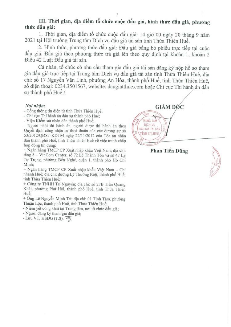 Ngày 20/9/2021, đấu giá xe ô tô Honda tại tỉnh Thừa Thiên Huế ảnh 4