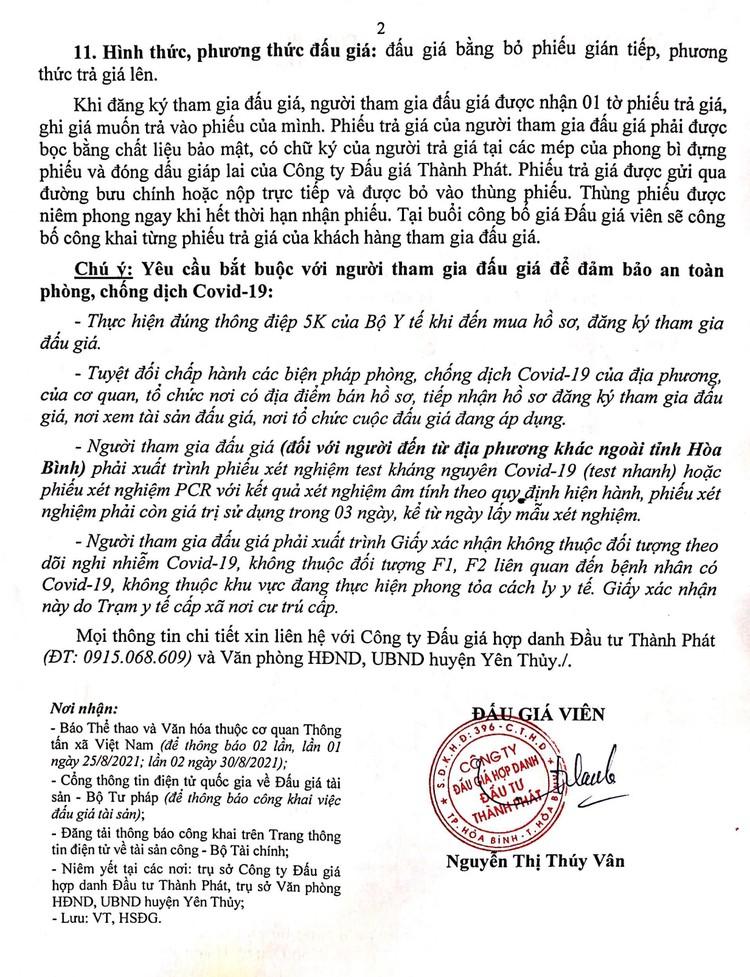Ngày 13/9/2021, đấu giá xe ô tô ISUZU tại tỉnh Hòa Bình ảnh 3