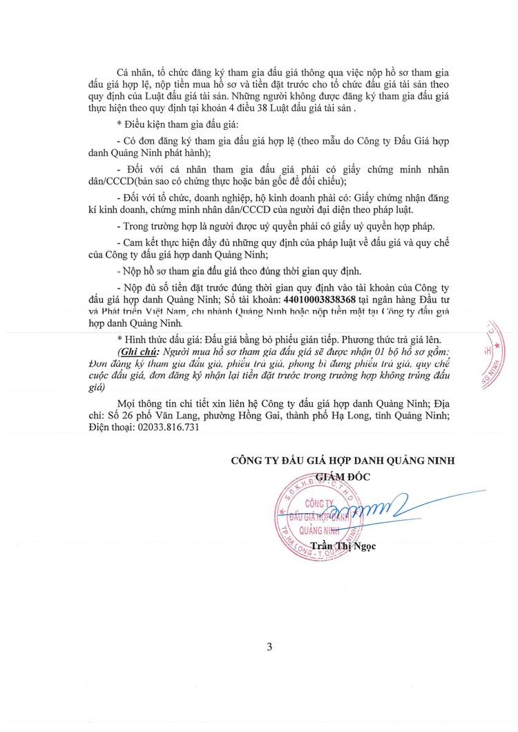 Ngày 13/9/2021, đấu giá lô tài sản phế liệu thanh lý tại tỉnh Quảng Ninh ảnh 4