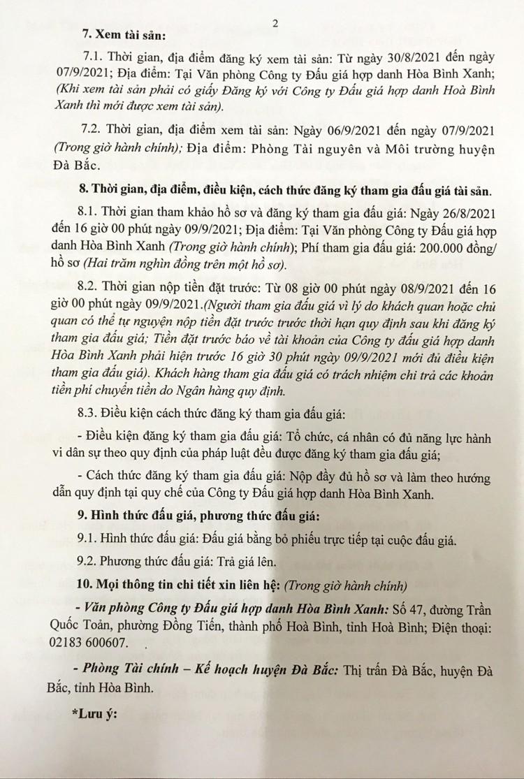 Ngày 14/9/2021, đấu giá xe ô tô chở rác Thành Công tại tỉnh Hòa Bình ảnh 4