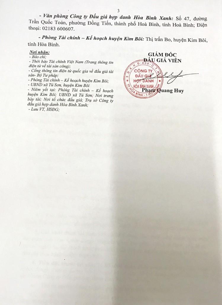 Ngày 14/9/2021, đấu giá xe ô tô TRUONG GIANG 02 tại tỉnh Hòa Bình ảnh 4