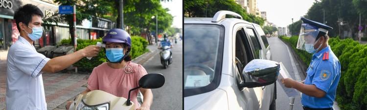 Hà Nội: Ùn tắc phương tiện ở chốt vùng đỏ, mở lại hàng quán tại vùng xanh ảnh 8
