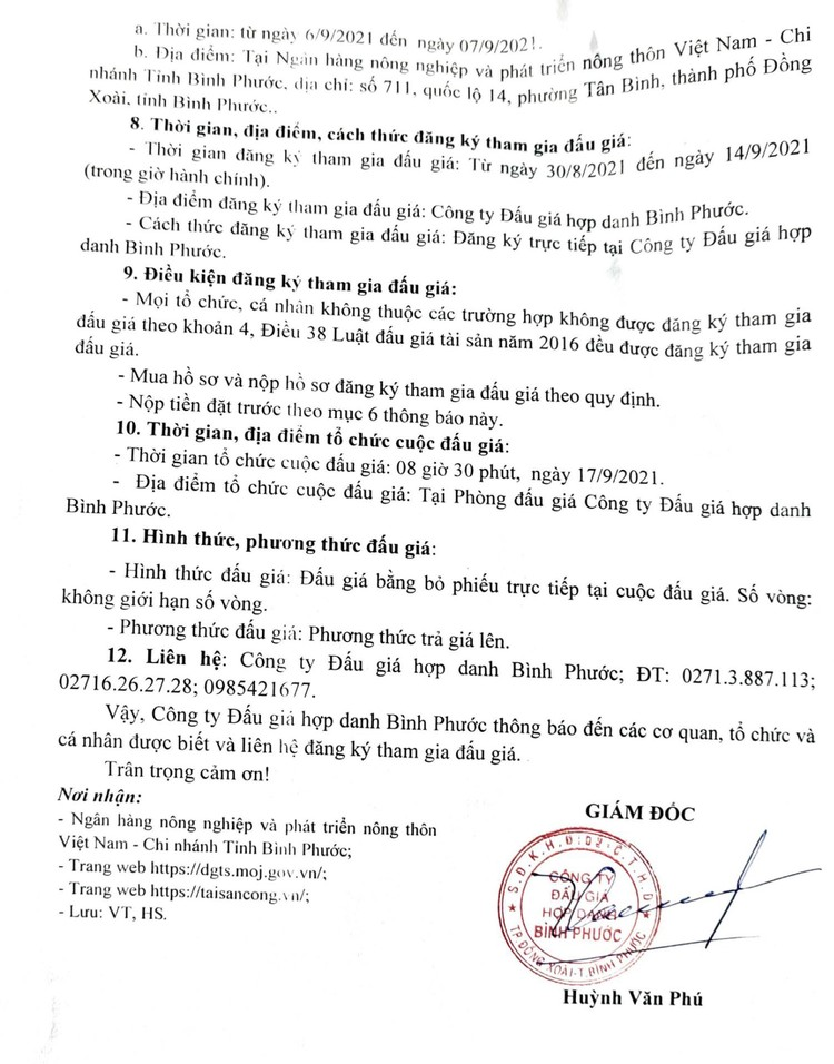 Ngày 17/9/2021, đấu giá 3 xe ô tô tại tỉnh Bình Phước ảnh 4