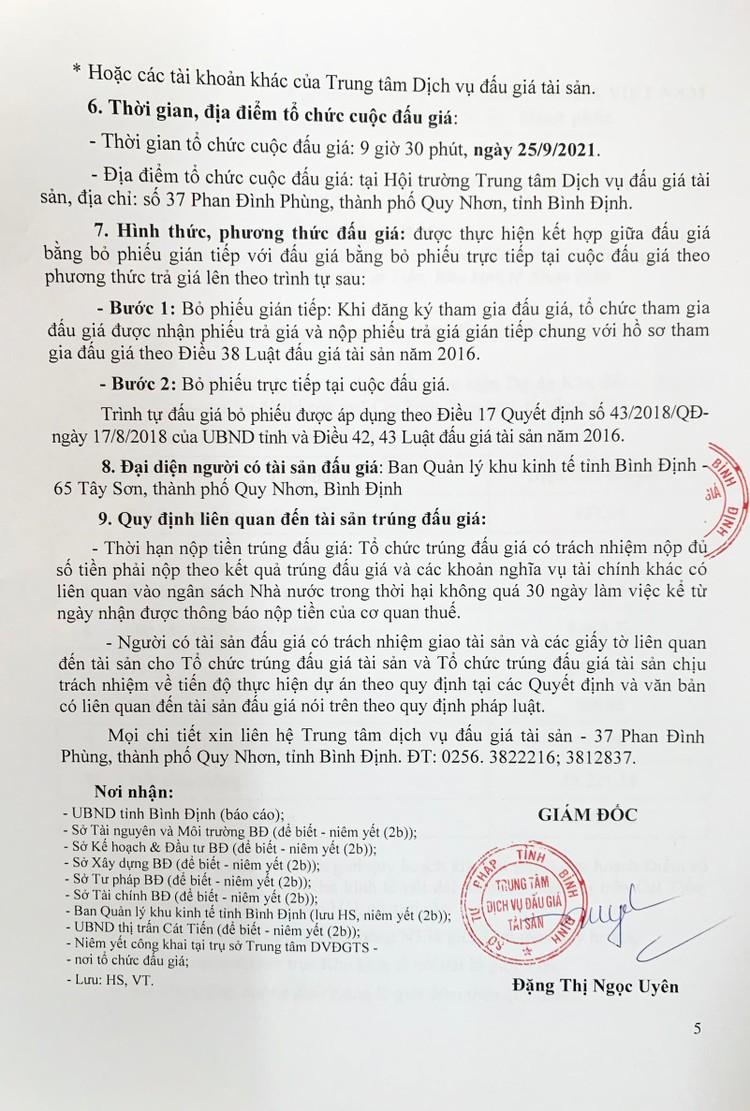 Ngày 25/9/2021, đấu giá quyền sử dụng 48.389,32 m2 đất tại Khu kinh tế Nhơn Hội, tỉnh Bình Định ảnh 6