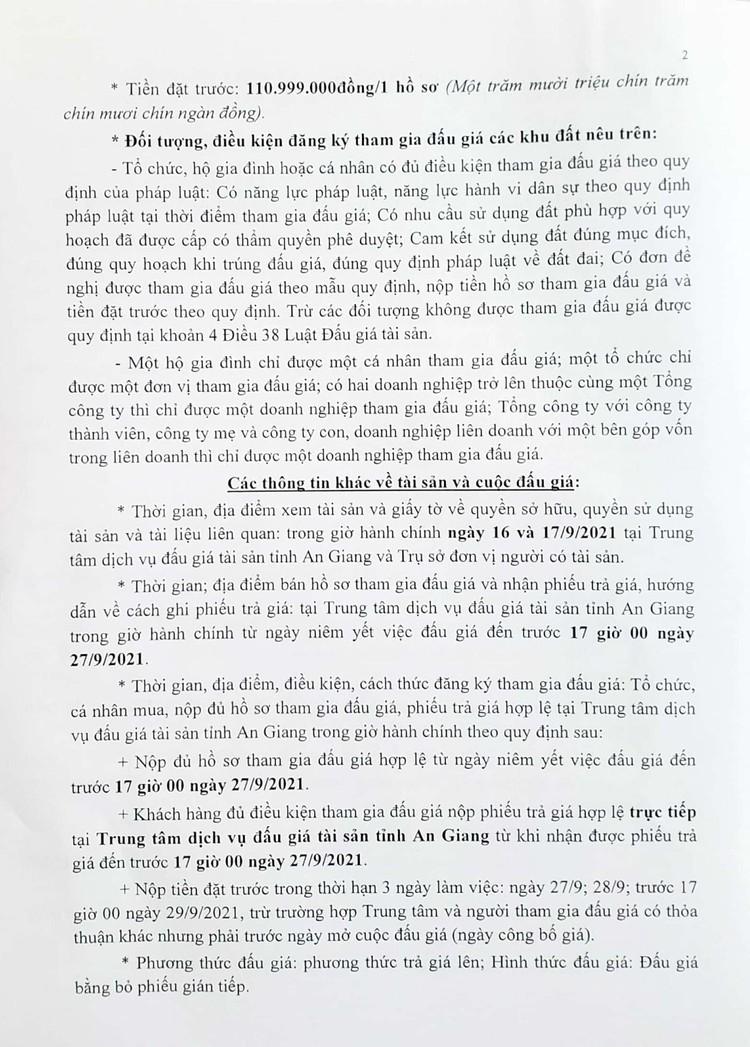 Ngày 30/9/2021, đấu giá quyền sử dụng 2 lô đất tại huyện Tri Tôn, tỉnh An Giang ảnh 4