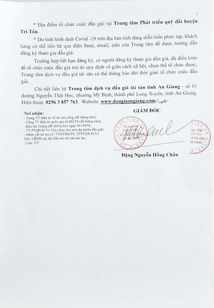 Ngày 30/9/2021, đấu giá quyền sử dụng 2 lô đất tại huyện Tri Tôn, tỉnh An Giang ảnh 5