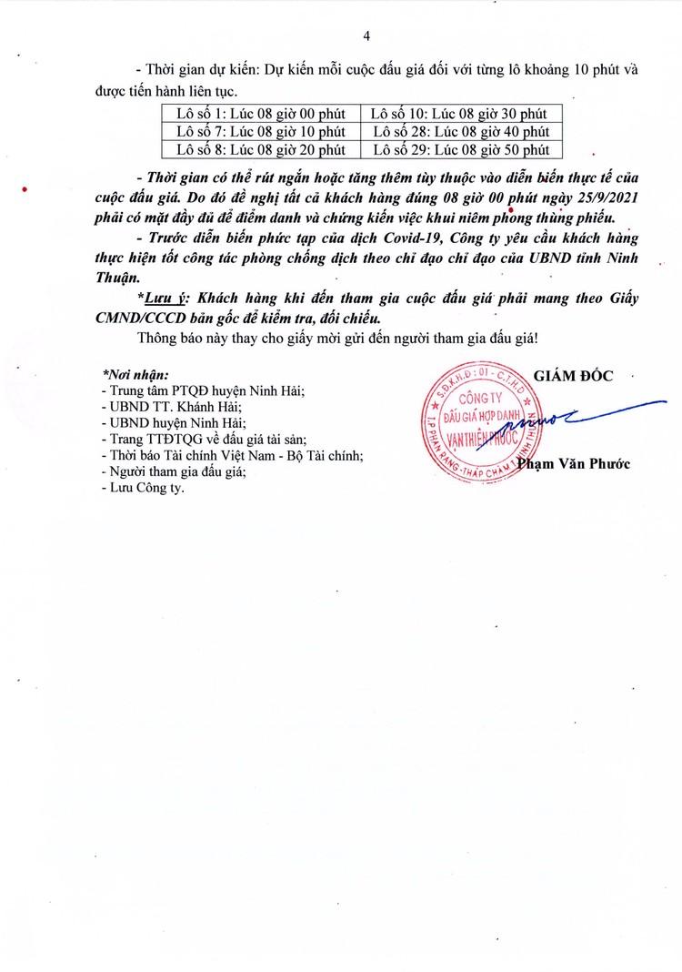 Ngày 25/9/2021, đấu giá quyền sử dụng 6 lô đất tại huyện Ninh Hải, tỉnh Ninh Thuận ảnh 5