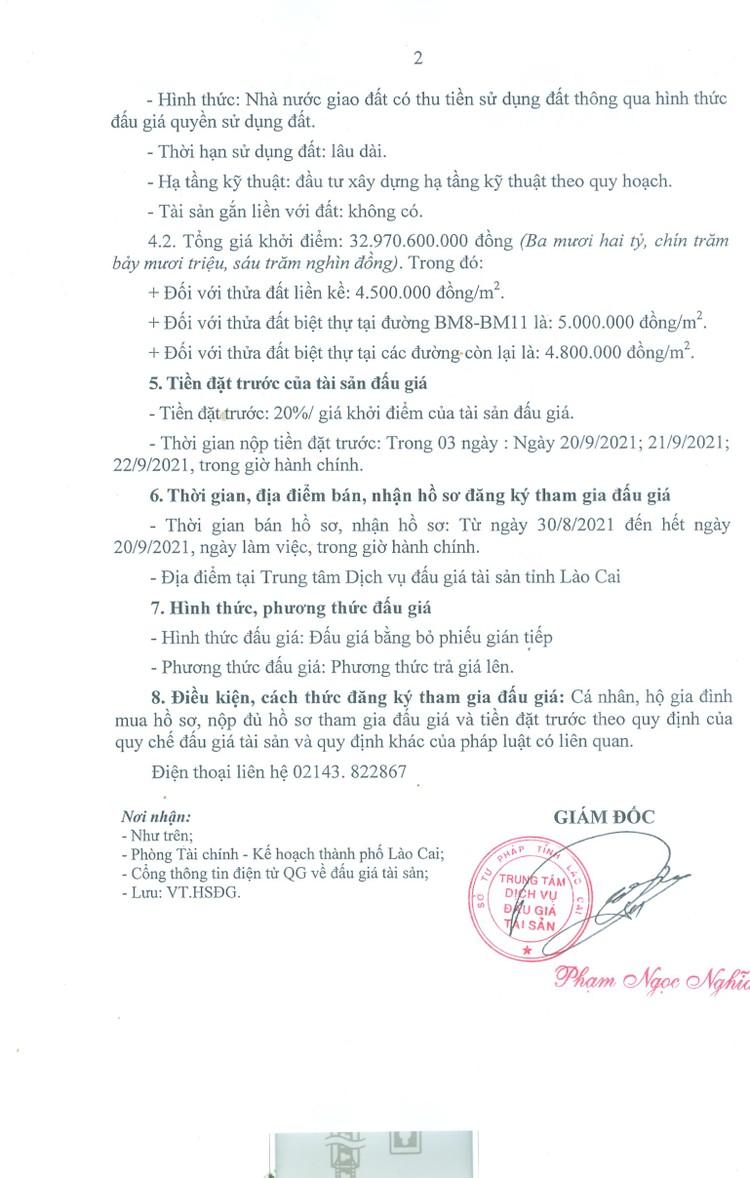 Ngày 23/9/2021, đấu giá quyền sử dụng 56 thửa đất tại thành phố Lào Cai, tỉnh Lào Cai ảnh 3