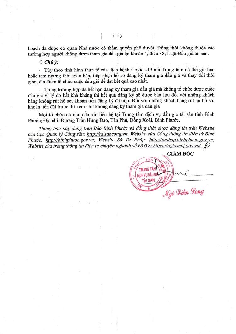 Ngày 30/9/2021, đấu giá quyền sử dụng đất tại huyện Bù Đăng, tỉnh Bình Phước ảnh 4