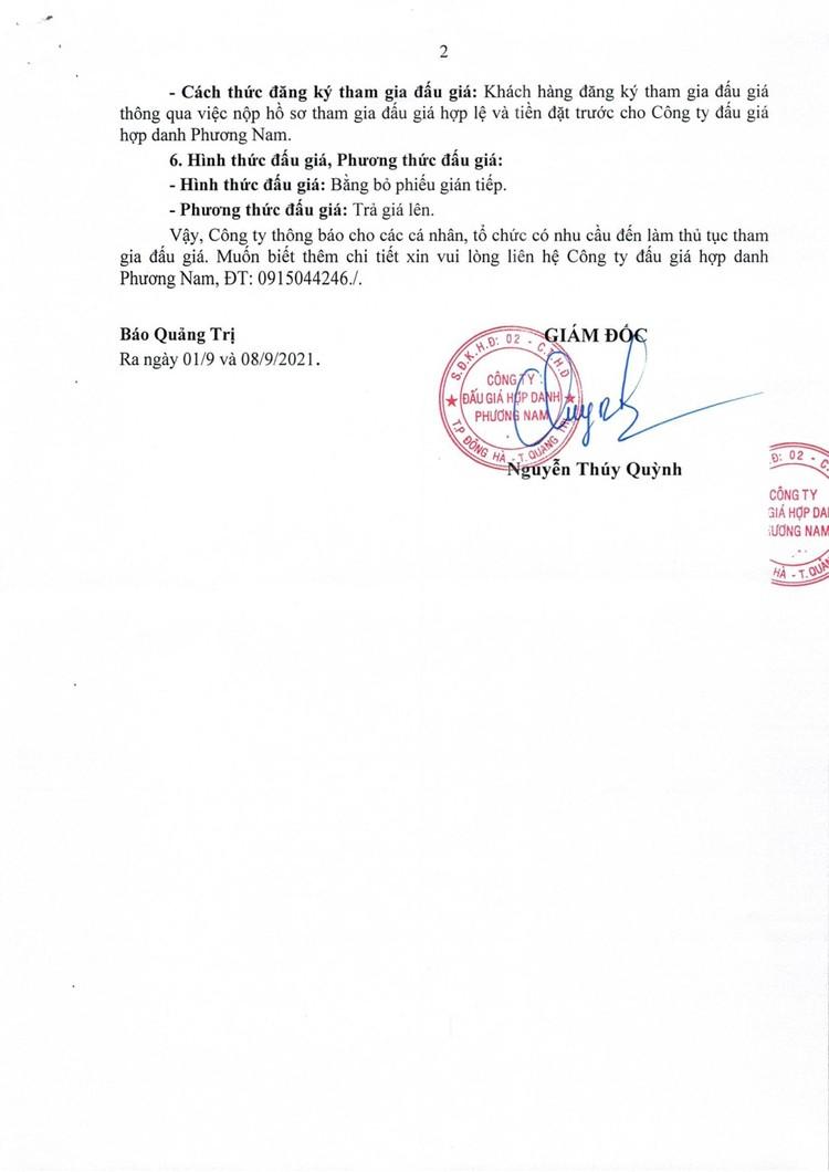 Ngày 20/9/2021, đấu giá tang vật vi phạm hành chính tại tỉnh Quảng Trị ảnh 3