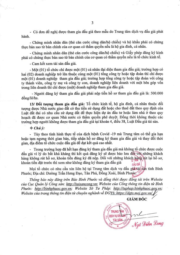 Ngày 30/9/2021, đấu giá quyền sử dụng 10 lô đất tại huyện Bù Đăng, tỉnh Bình Phước ảnh 4