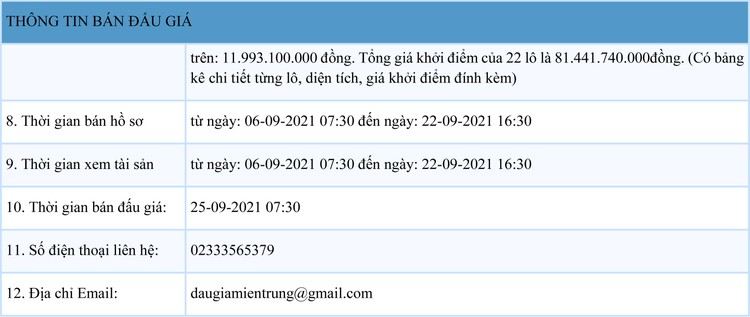 Ngày 25/9/2021, đấu giá quyền sử dụng 22 lô đất tại thành phố Đông Hà, tỉnh Quảng Trị ảnh 2