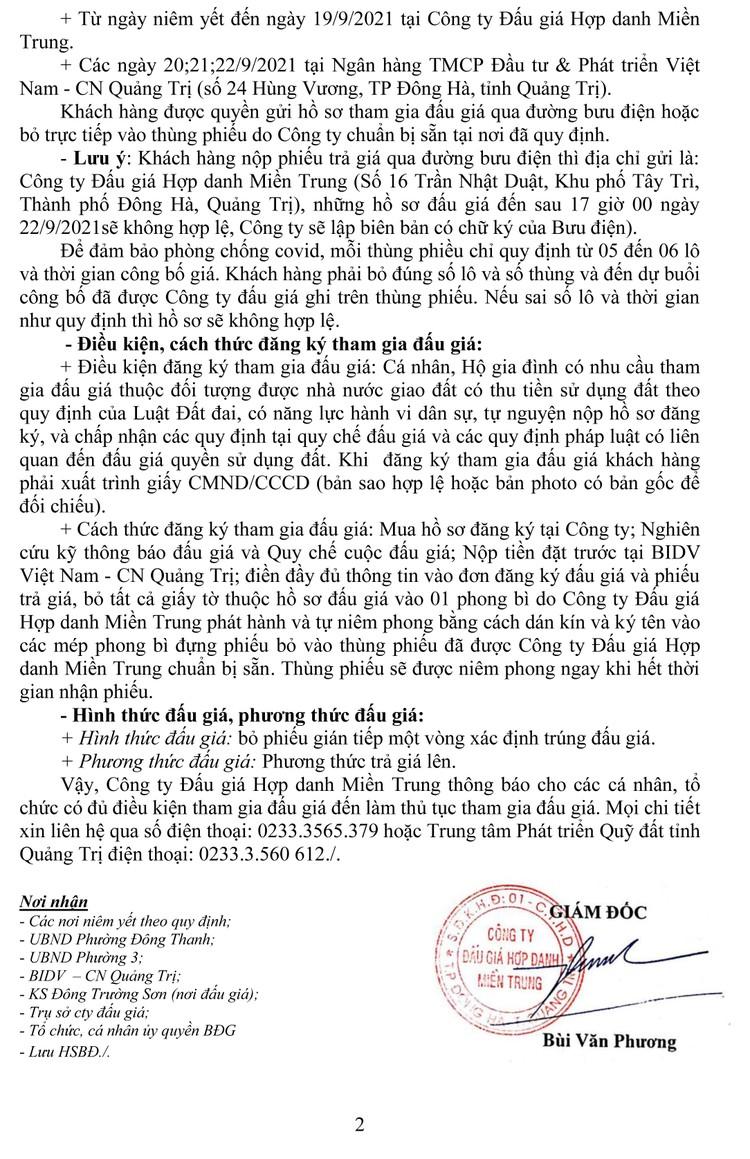 Ngày 25/9/2021, đấu giá quyền sử dụng 22 lô đất tại thành phố Đông Hà, tỉnh Quảng Trị ảnh 4
