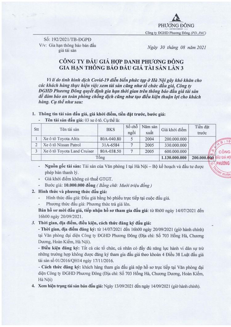 Ngày 22/9/2021, đấu giá 03 xe ô tô thanh lý tại Hà Nội ảnh 2