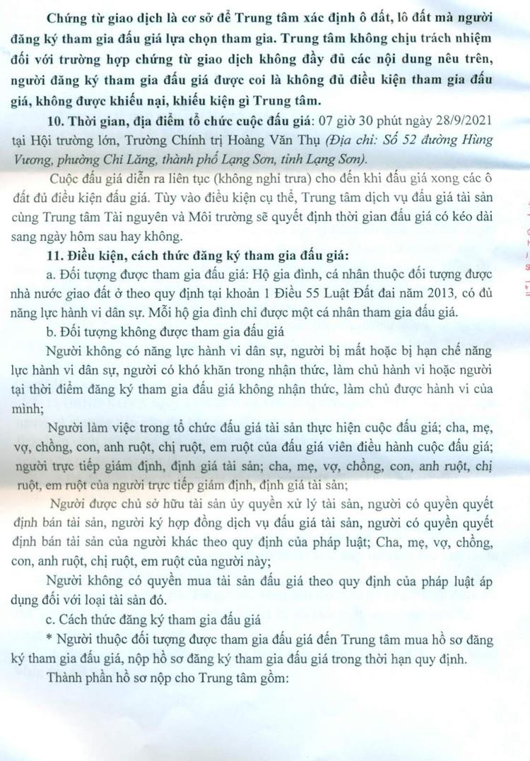 Ngày 28/9/2021, đấu giá quyền sử dụng 24 ô đất tại thành phố Lạng Sơn, tỉnh Lạng Sơn ảnh 5