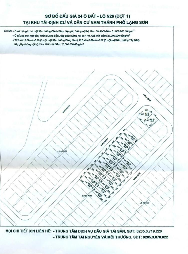 Ngày 28/9/2021, đấu giá quyền sử dụng 24 ô đất tại thành phố Lạng Sơn, tỉnh Lạng Sơn ảnh 10