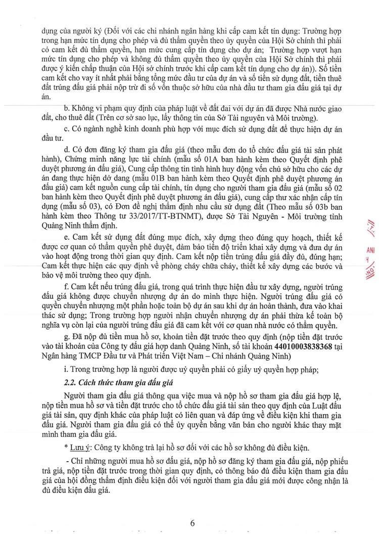 Ngày 24/9/2021, đấu giá quyền sử dụng đất tại thành phố Hạ Long, tỉnh Quảng Ninh ảnh 8
