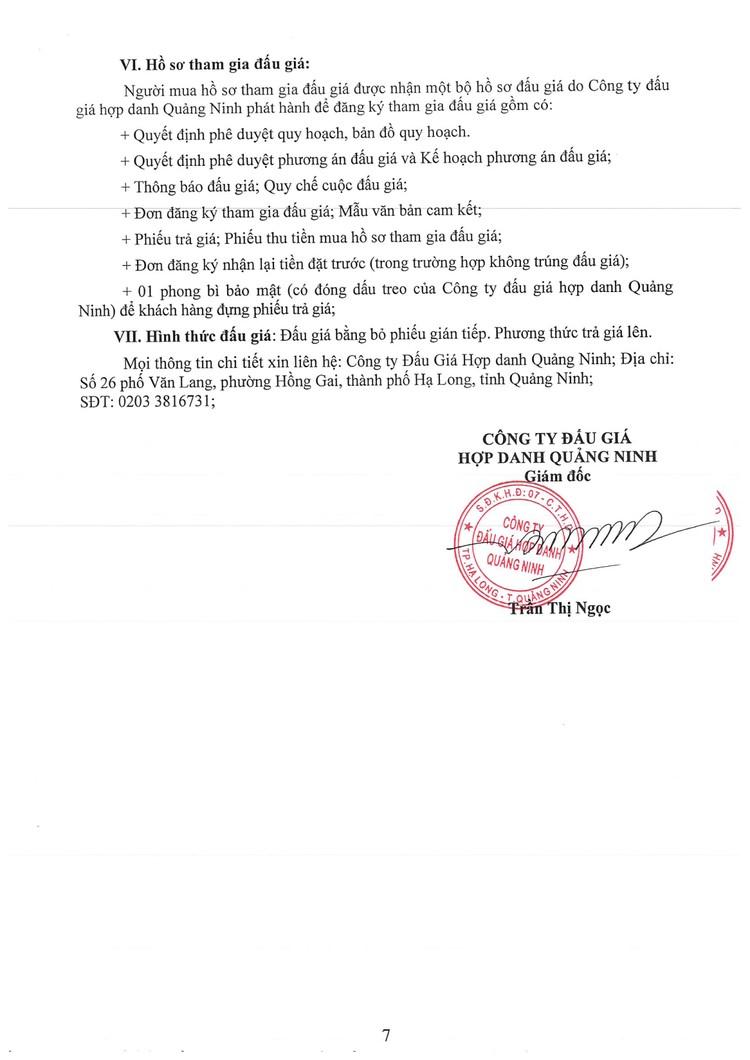 Ngày 24/9/2021, đấu giá quyền sử dụng đất tại thành phố Hạ Long, tỉnh Quảng Ninh ảnh 9